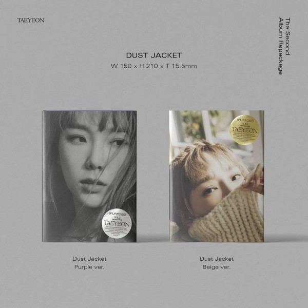 TAEYEON 2nd Repackage Album - Purpose (Dust Jacket/Purple Vers.)