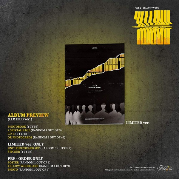 Stray Kids - Cle2 : Yellow Wood (Limited Ver)