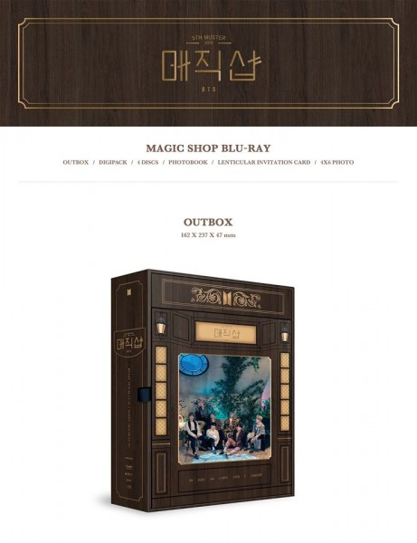 BTS 5th MUSTER [MAGIC SHOP] Blu-ray + BTS Button