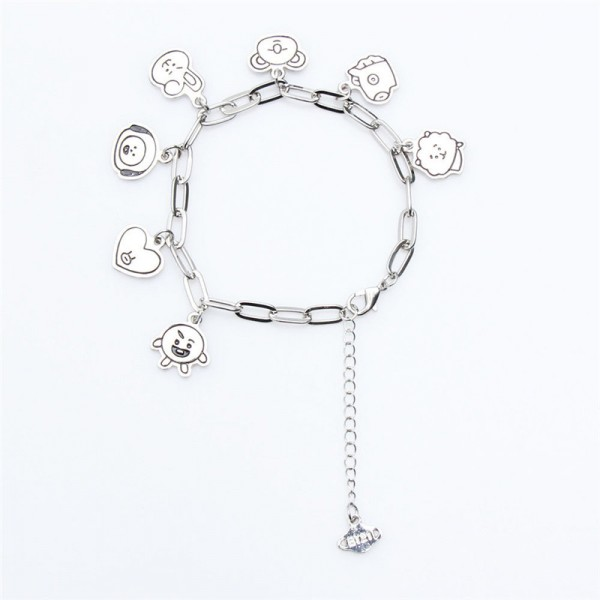 BT21 - Armband (Silberfarbene Optik)