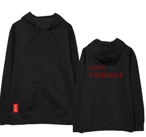 BTS - Love yourself Longsleeve Hoodie (Red Logo)