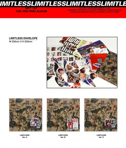 NCT 127 - LIMITLESS 2nd Mini Album (RANDOM) (RE-RELEASE)