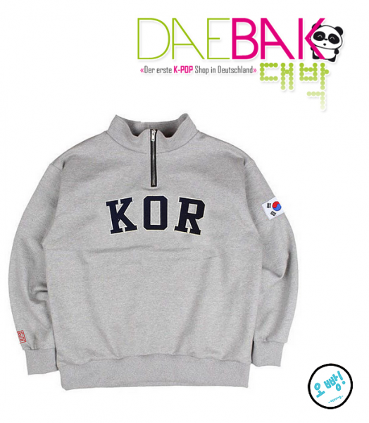 KOR - ZIP UP SWEATER [One Size]