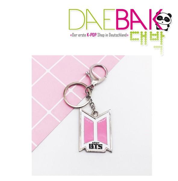 BTS (Bangtan) - Schlüsselanhänger (Rosa Logo)