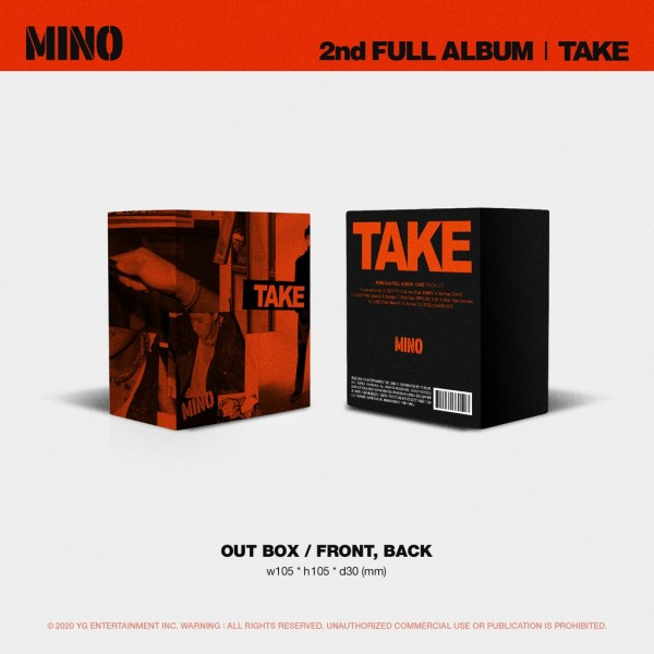 MINO (WINNER) 2nd FULL ALBUM 'TAKE' Limited Edition (KIHNO KIT)
