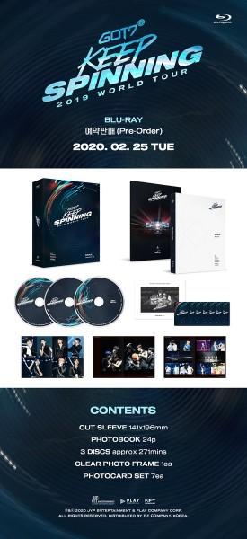GOT7 - GOT7 2019 WORLD TOUR 'KEEP SPINNING' IN SEOUL BLU-RAY