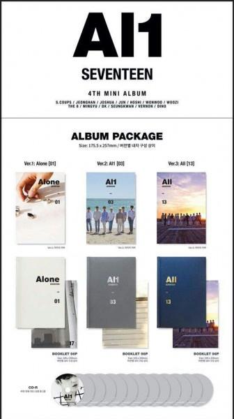 Seventeen 4th Mini Album - AL1 (Version 03)