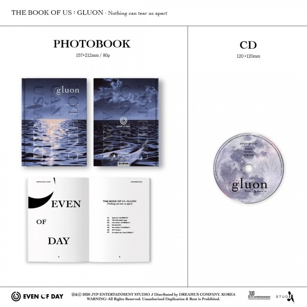 DAY6 (Even of Day) Mini Album Vol. 1 - The Book of Us : Gluon [Nothing can tear us apart]