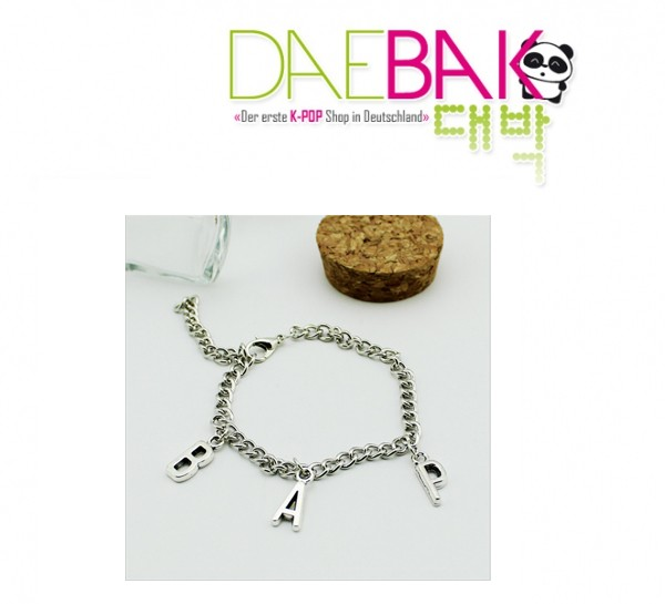 B.A.P - Armband (Silberfarbene Optik)