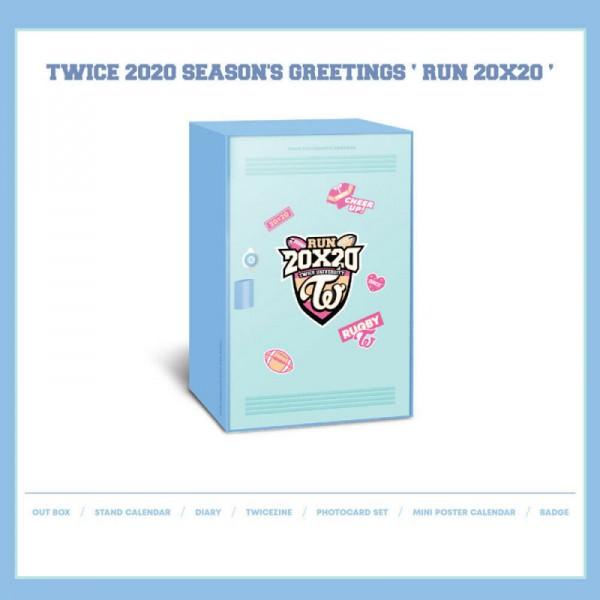 Twice 2020 SEASON'S GREETINGS [RUN 20X20]