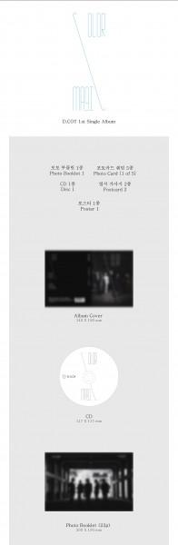 D.COY 1st Single Album - COLOR MAGIC