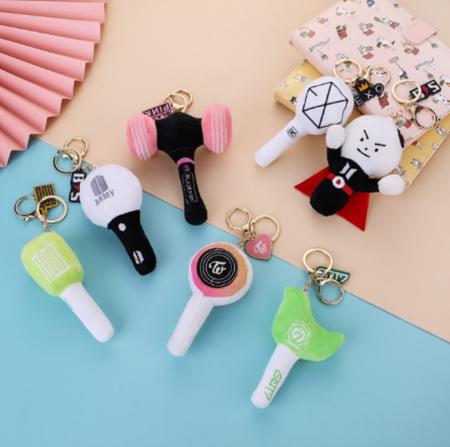 K-Pop - Keychain Light Stick (Plush Doll)