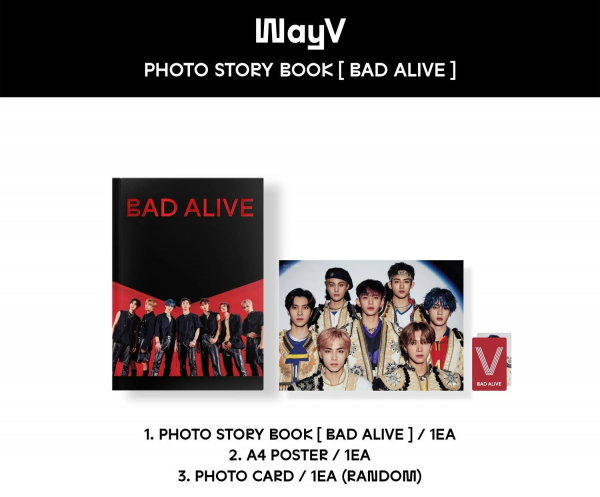 WayV - Bad Alive / Photo Story Book