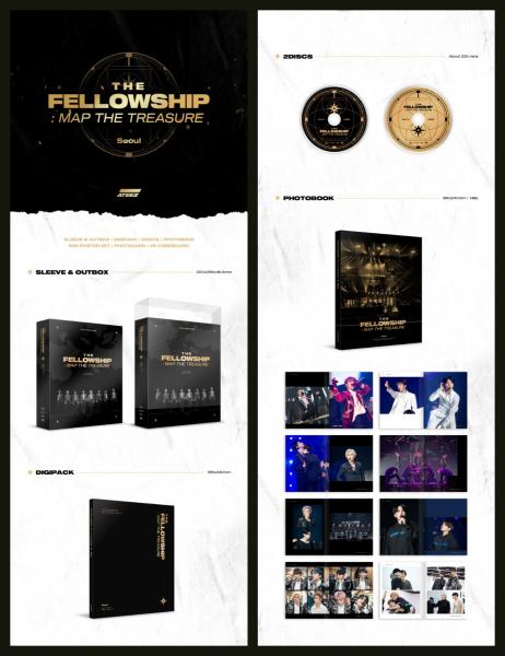 ATEEZ - ATEEZ WORLD TOUR THE FELLOWSHIP : MAP THE TREASURE SEOUL DVD (*B WARE)