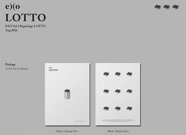 EXO - 3rd Mini Album Repackage LOTTO (Korean Vers.)