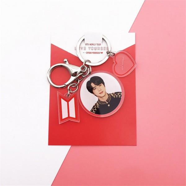 BTS - Member Keychain Heart