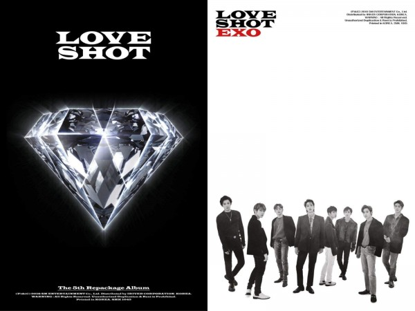 EXO 5th Repackage Album - LOVE SHOT (Love Vers.)