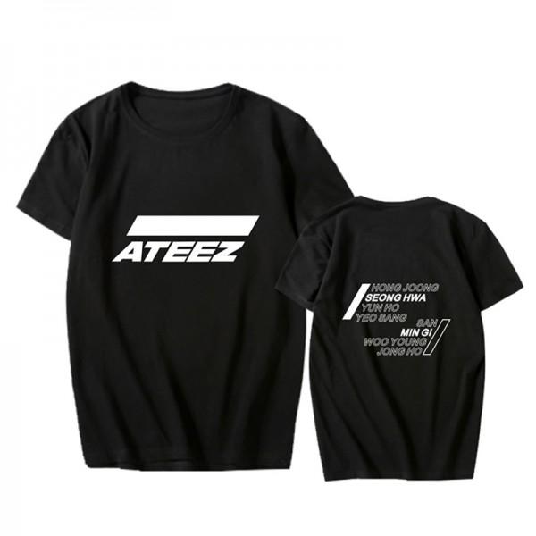 Ateez - T-Shirt (white Logo) (Größe: L)